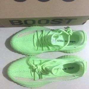 Adidas Yezzy 350vs men's shoes neon green